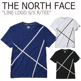 ノースフェイス Tシャツ THE NORTH FACE メンズ レディース LINE LOGO S/S R/TEE ライン ロゴ ショートスリーブ ラウンドT WHITE BLUE BLACK ホワイト ブルー ブラック NT7UK02J/K/L ウェア 【中古】未使用品