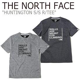 ノースフェイス Tシャツ THE NORTH FACE メンズ HUNTINGTON S/S R/TEE ハンティントン ショートスリーブT 半袖 MelangeGray Charcoal Gray グレー NT7UK14J/L ウェア 【中古】未使用品