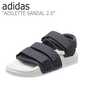 アディダス アディレッタ サンダル adidas メンズ レディース ADILETTE SANDAL 2.0 アディレッタサンダル GRAY グレー CQ2672 シューズ 【中古】未使用品