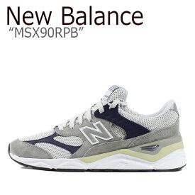 ニューバランス X-90 スニーカー New Balance メンズ レディース MSX 90 RPB New BalanceX-90 GRAY グレー MSX90RPB シューズ 【中古】未使用品