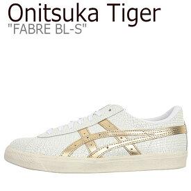 オニツカタイガー ファーブル スニーカー Onitsuka Tiger メンズ レディース FABRE BL-S ファーブル BL-S WHITE ホワイト RICH GOLD リッチゴールド D254K-0194 シューズ