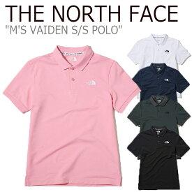 ノースフェイス ポロシャツ THE NORTH FACE メンズ M'S VAIDEN S/S POLO ヴァイデン ショートスリーブ ポロ ホワイト ピンク ネイビー グレー ブラック NT7PK03J/K/L/M/N ウェア 【中古】未使用品