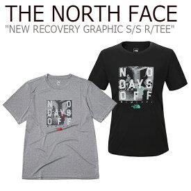 ノースフェイス Tシャツ THE NORTH FACE メンズ レディース NEW RECOVERY GRAPHIC S/S R/TEE ニュー リカバリー グラフィック ショートスリーブ ラウンドT MELANGE GREY BLACK グレー ブラック NT7UK02B ウェア 【中古】未使用品