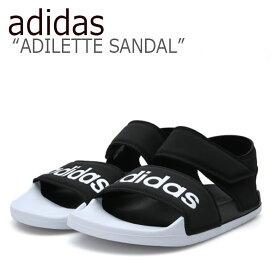 アディダス サンダル adidas メンズ レディース ADILETTE SANDAL アディレット サンダル BLACK WHITE ブラック ホワイト F35416 シューズ 【中古】未使用品