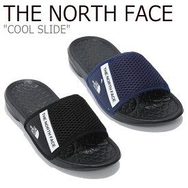ノースフェイス サンダル THE NORTH FACE メンズ レディース COOL SLIDE クール スライド NAVY BLACK ネイビー ブラック NS98K22J/K シューズ 【中古】未使用品