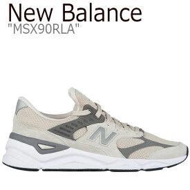 ニューバランス スニーカー NEW BALANCE メンズ レディース new balance X-90 ニューバランスX-90 BEIGE ベージュ MSX90RLA シューズ 【中古】未使用品