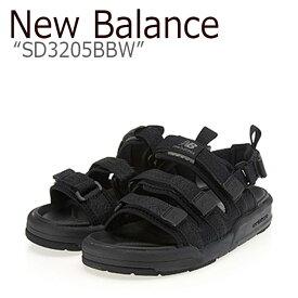 ニューバランス サンダル New Balance メンズ レディース SD 3205 BBW BLACK ブラック SD3205BBW シューズ 【中古】未使用品