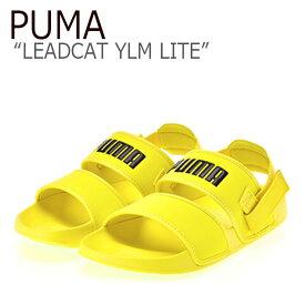 プーマ サンダル PUMA メンズ レディース PUMA×HYUNA LEADCAT YLM LITE リードキャット YLM ライト YELLOW イエロー 37073304 シューズ 【中古】未使用品