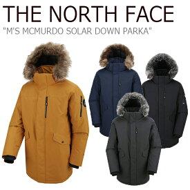 ノースフェイス ダウン THE NORTH FACE メンズ M'S MCMURDO SOLAR DOWN PARKA マクマード ソーラー ダウンパーカ グースダウン 全4色 NJ1DJ52A/B/C/D ウェア 【中古】未使用品