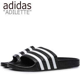 アディダス サンダル adidas メンズ レディース ADILETTE SANDAL アディレッタ サンダル BLACK ブラック 280647 シューズ 【中古】未使用品