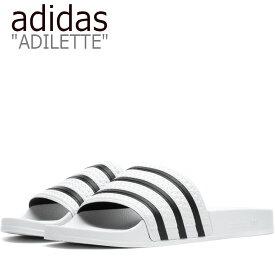 アディダス サンダル adidas メンズ レディース ADILETTE SANDAL アディレッタ サンダル WHITE ホワイト 280648 シューズ 【中古】未使用品