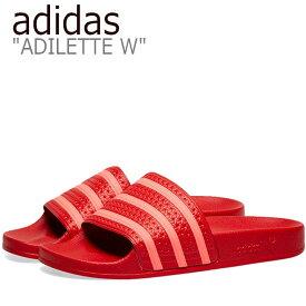 アディダス サンダル adidas メンズ レディース ADILETTE W SANDAL アディレッタ サンダル RED レット EE6185 シューズ 【中古】未使用品