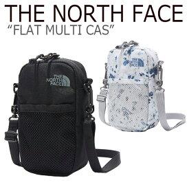 ノースフェイス ミニバッグ THE NORTH FACE メンズ レディース FLAT MULTI CASE フラット マルチ ケース BLACK MISTY BLUE ブラック ミスティーブルー NN2PK51A/C バッグ 【中古】未使用品