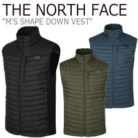 ノースフェイス ダウン THE NORTH FACE メンズ M'S SHAPE DOWN VEST シェープ ダウンベスト BLACK ブラック MIDNIGHT NAVY ネイビー KHAKI カーキ NV1DK51A/B/C ウェア 【中古】未使用品