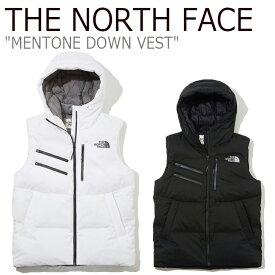 ノースフェイス ダウン THE NORTH FACE メンズ レディース MENTONE DOWN VEST メントーン ダウンベスト BLACK ブラック WHITE ホワイト NV1DK51J/K ウェア 【中古】未使用品