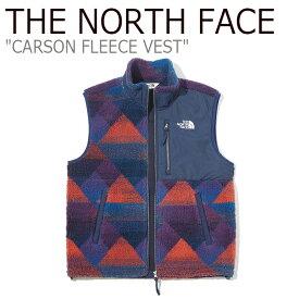 フリース ノースフェイス THE NORTH FACE メンズ レディース CARSON FLEECE VEST カーソン フリースベスト NAVY ネイビー NV4FK50K ウェア 【中古】未使用品