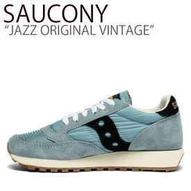 サッカニー スニーカー SAUCONY メンズ レディース JAZZ ORIGINAL VINTAGE ジャズオリジナルヴィンテージ BLUE BLACK ブルー ブラック S60368-98 シューズ