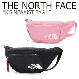 ノースフェイス ウエストポーチ THE NORTH FACE キッズ K'S N WAIST BAG L ウエストバッグ L BLACK PINK ブラック ピンク NN2HK51R/S バッグ 【中古】未使用品