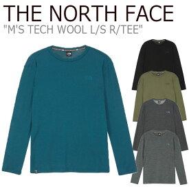 ノースフェイス ロンT THE NORTH FACE メンズ M'S TECH WOOL L/S R/TEE テック ウール ロングスリーブ ラウンドTEE 全5色 NI7TK50A/B/C/D/E ウェア 【中古】未使用品