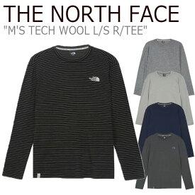 ノースフェイス ロンT THE NORTH FACE メンズ M'S TECH WOOL L/S R/TEE テック ウール ロングスリーブ ラウンドTEE 全5色 NI7TK50F/G/H/I/1 ウェア 【中古】未使用品