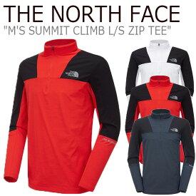 ノースフェイス ロンT THE NORTH FACE メンズ M'S SUMMIT CLIMB L/S ZIP TEE サミット クライム ロングスリーブ ジップTEE RED レッド WHITE ホワイト GRAY グレー NT7LL00A/B/C ウェア 【中古】未使用品
