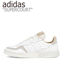 アディダス スニーカー adidas メンズ レディース SUPERCOURT スーパーコート WHITE BEIGE ホワイト ベージュ EE6034 シューズ 【中古】未使用品
