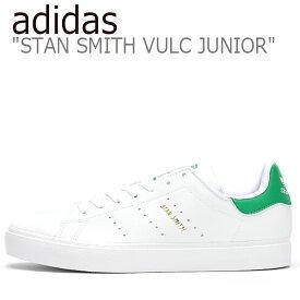 アディダス スタンスミス スニーカー adidas レディース STAN SMITH VULC JUNIOR スタンスミス バルカ ジュニア WHITE ホワイト GREEN グリーン EG7295 シューズ 【中古】未使用品