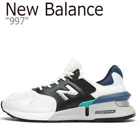ニューバランス 997 スニーカー New Balance メンズ MS 997 JCD New Balance 997 WHITE ホワイト BLUE ブルー MS997JCD シューズ 【中古】未使用品