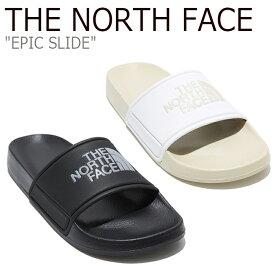 ノースフェイス スリッパ THE NORTH FACE メンズ レディース EPIC SLID エピック スライド WHITE ホワイト BLACKブラック NS98L06A/B シューズ 【中古】未使用品
