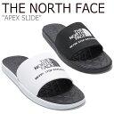 ノースフェイス スリッパ THE NORTH FACE メンズ レディース APEX SLIDE エイペックス スライド BLACK ブラック WHITE…