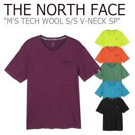ノースフェイス Tシャツ THE NORTH FACE メンズ M'S TECH WOOL S/S V-NECK SP テック ウール ショートスリーブ Vネック 半袖 全6色 NI7UK04A/B/C/D/E/F ウェア 【中古】未使用品