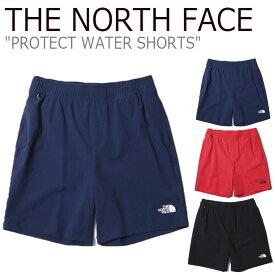 ノースフェイス 水着 THE NORTH FACE メンズ PROTECT WATER SHORTS プロテクト ウォーター ショーツ 海水パンツ サーフパンツ RED レッド NAVY ネイビー BLACK ブラック NS6NK02A/C/D ウェア 【中古】未使用品
