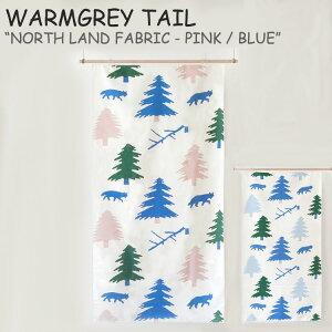 ウォームグレーテイル タペストリー WARMGREY TAIL NORTH LAND FABRIC - PINK / BLUE ノースランド ファブリック ピンク ブルー 韓国雑貨 175884/5 ACC