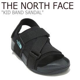 ノースフェイス サンダル THE NORTH FACE キッズ KID BAND SANDAL バンドサンダル BLACK ブラック NS96L20A シューズ 【中古】未使用品