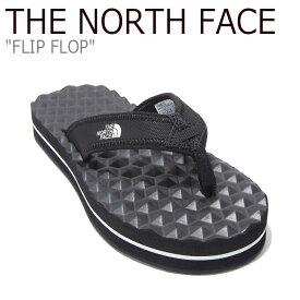 ノースフェイス サンダル THE NORTH FACE メンズ レディース FLIP FLOP フリップ フロップ シャワーサンダル ビーチサンダル BLACK ブラック NS98L17A/J シューズ 【中古】未使用品