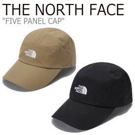 ノースフェイス キャップ THE NORTH FACE メンズ レディース FIVE PANEL CAP ファイブ パネルキャップ BLACK ブラック DARK BEIGE ダーク ベージュ NE3CL54A/B ACC 【中古】未使用品