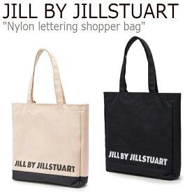 ジル バイ ジルスチュアート トートバッグ JILL BY JILLSTUART レディース Nylon lettering shopper bag ナイロン レタリング ショッパーバッグ JLBA0F742I2/1BK バッグ