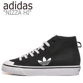 アディダス スニーカー adidas メンズ レディース NIZZA HI ニッツァハイ BLACK ブラック FW8352 シューズ 【中古】未使用品