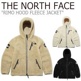 フリース ノースフェイス THE NORTH FACE メンズ レディース RIMO HOOD FLEECE JACKET リモ フード フリースジャケット CREAM クリーム BLACK ブラック CAMEL キャメル NJ4FL56J/K/L ウェア 【中古】未使用品