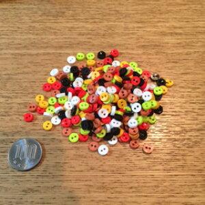 装飾用品 ミニミニボタン (赤系中心セットタイプ)ハンドメイド装飾・お裁縫に♪【一袋30個のセット販売】