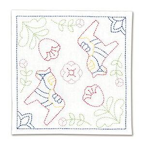 オリムパス 刺し子キット 北欧モチーフの花ふきん ダーラナホース SK-327【送料無料】