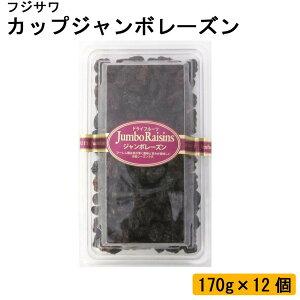 フジサワ カップジャンボレーズン 170g×12個【送料無料】