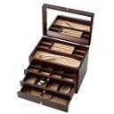 ネックレス イヤリング 大容量茶谷産業 日本製 Wooden Case 木製ジュエルケース(アクセサリーケース) 3ツ引 017-…