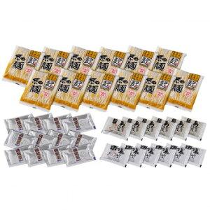 RAG あごだし醤油・岩塩ラーメンセット(磯紫菜付) 12食セット RAG-12i【送料無料】