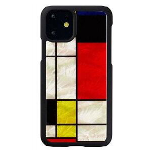 ikins(アイキンス) iPhone 11 天然貝ケース Mondrian I16881i61R【送料無料】 メール便対応商品