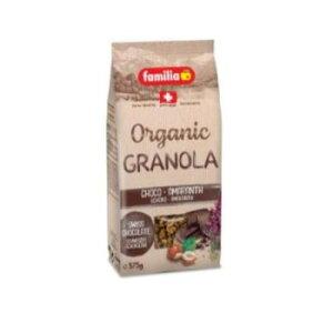 ファミリア オーガニック チョコ&アマランサス クランチ 375g×12袋【送料無料】