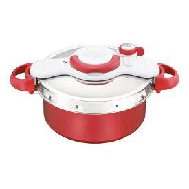 なべ 調理器具 こびりつきにくいT-fal(ティファール) クリプソ ミニット デュオ レッド5.2L 圧力鍋 P4605136 6142-062【送料無料】