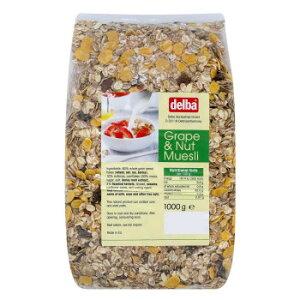 delba(デルバ) グレープ&ナッツミューズリー 1kg×10個セット【送料無料】