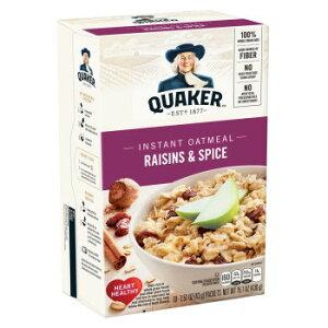 QUAKER(クエーカー) インスタントオートミール レーズン&スパイス 430g(10袋入)×12個セット【送料無料】