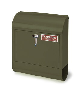 送料無料 ポスト MURCURY MAIL BOX マーキュリー メールボックス アメリカン おしゃれメールボックス ポスト 郵便受け 鍵付き ハンドルロック マットオリーブ